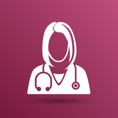 female doctor: icon doctor closeup medical graphic design vector illustration.