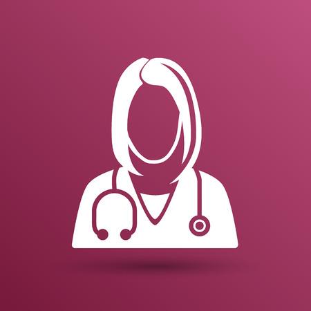 icon doctor closeup medical graphic design vector illustration.