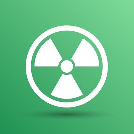 caesium: sign radiation vector icon caution nuclear atom power.