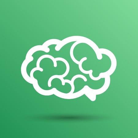 brain illustration: Brain icon mind vector medical symbol illustration. Illustration