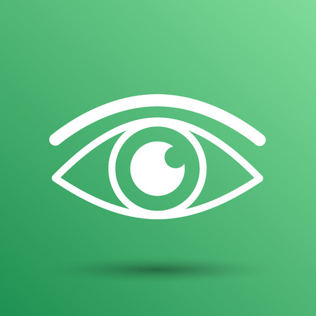 vision: Eye icon vector vision symbol look graphic pictogram.