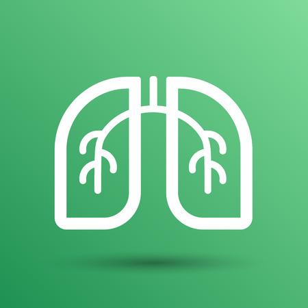 Lungen-Symbol auf weißem Hintergrund. Vektor Art.