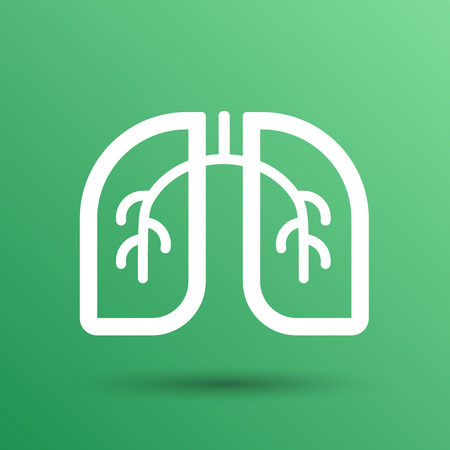 Lungs icon isolated on white background. VECTOR art. Vectores