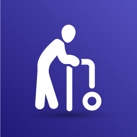 elder: Elder Black Graphic Symbol Vector Illustration  icon.