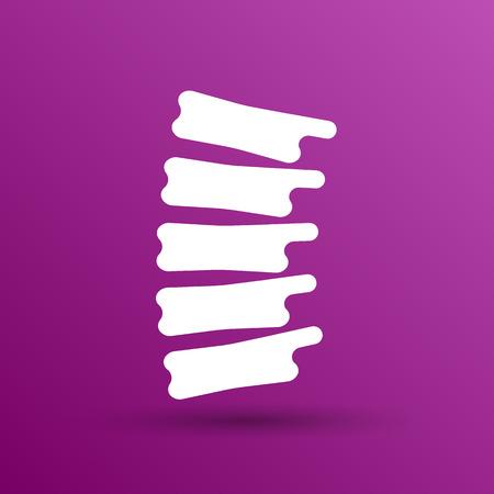 scoliosis: Spine diagnostics symbol design spine icon vector.