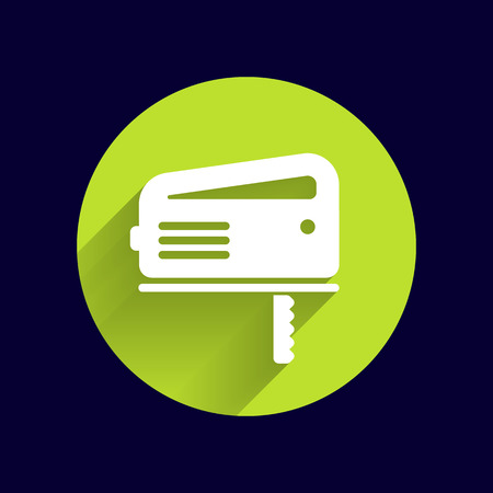 timber cutting: Cutting fretsaw symbol appliance icon Vector illustration.