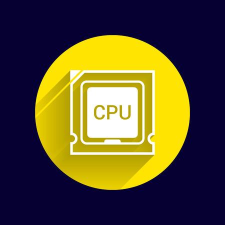 microprocessor: Icon of cpu microprocessor sign symbol process.