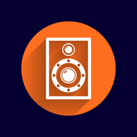 vector symbol: icon audio speaker sound wave vector symbol. Illustration