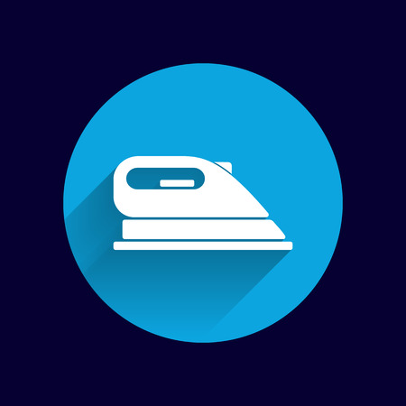 electric iron: iron icon vector steam heat isolated clothing electric. Illustration
