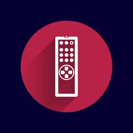 gps device: Remote control tv vector icon isolated media. Illustration