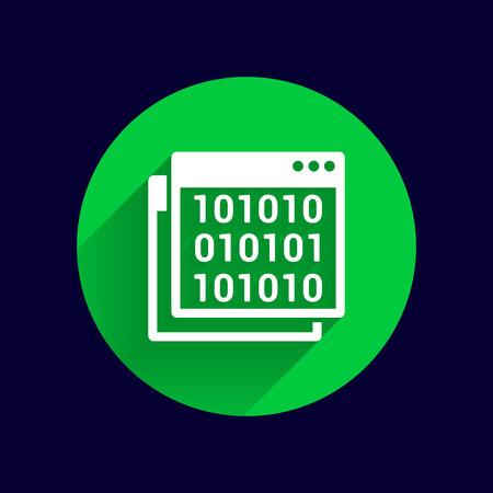 website window: icon of code window program programming website.