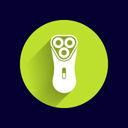 shaver: electric shaver razor icon symbol vector illustration.