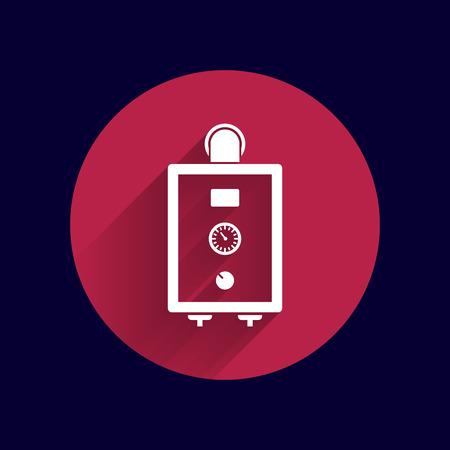 gas boiler: boiler gas icon water symbol household equipment .