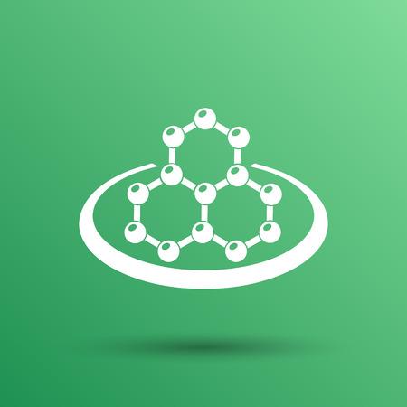 vector  molecular: icon molecular research chemistry medicine molecule atom vector.