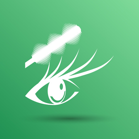 eyelash: Illustration brushes mascara and mascara brush makeup eye eyelash Illustration