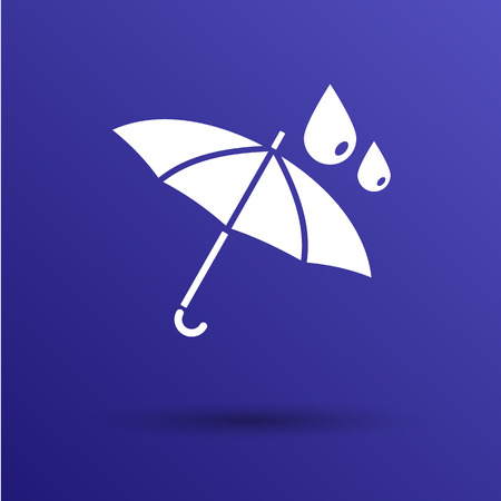 impermeable: waterproof icon water proof vector symbol umbrella.