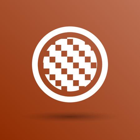 fibra: Apps metal-carbon icon carbon fiber vector black background iron icon. Vettoriali