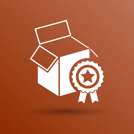 package sending: PREMIUM box packing vector design isolated icon.