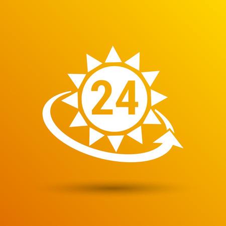 illustrazione sole: orologio in giallo sole vettoriale giorno illustrazione sole illustrazione vettoriale. Vettoriali