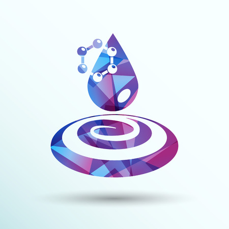 bubble water: water molecule water chemistry atom symbol icon.