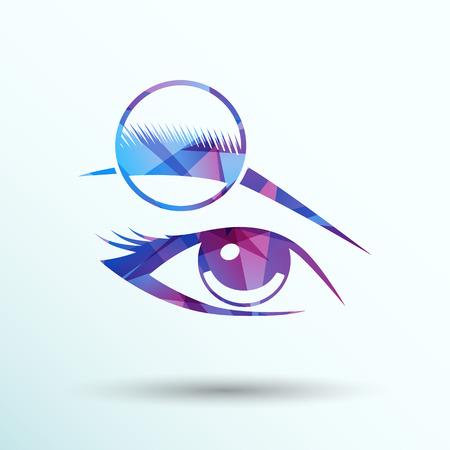 sehkraft: Menschliche Auge Vektor isoliert Augenbraue weibliche Make-up Sch�nheit Augenlicht. Illustration
