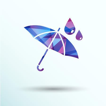 waterproof icon water proof vector symbol umbrella.