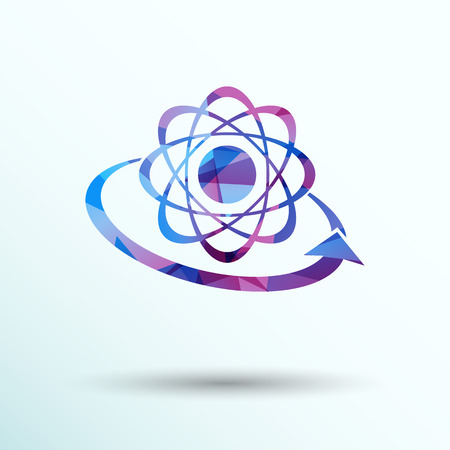 vector  molecular: Molecular compound vector icon chemistry, molecular, medical
