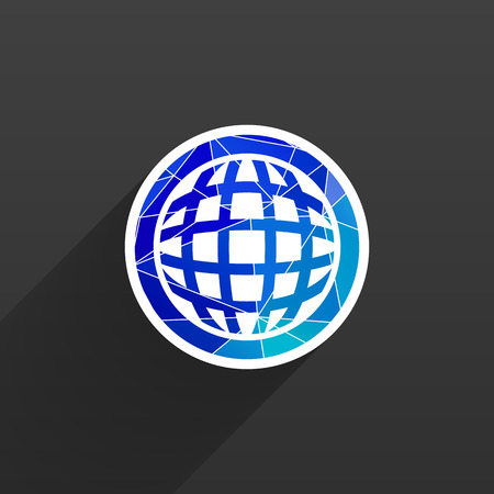 network map: Planet icon network map earth business concept vector