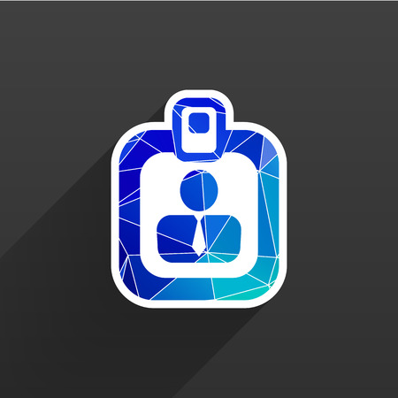 cardholder: Vector identification card icon  vector profile search business