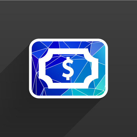 business sign: Flat icon of money market business sign symbol wealth dollar