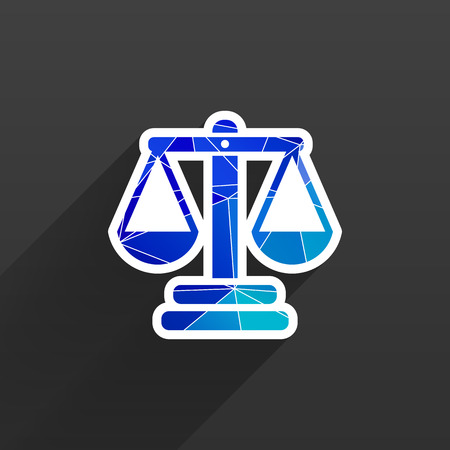 justice vector icon vector symbol measurement balance Illustration