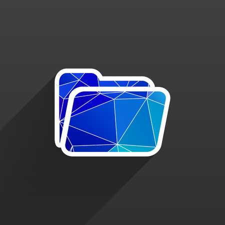 directory: circle icon vector folder binder isolated file document directory Illustration