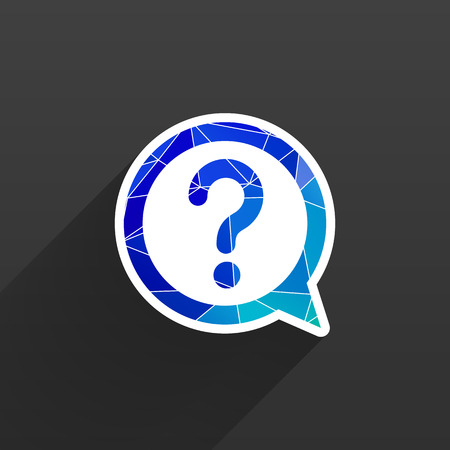 question mark icon: Image of question mark icon solution symbol business