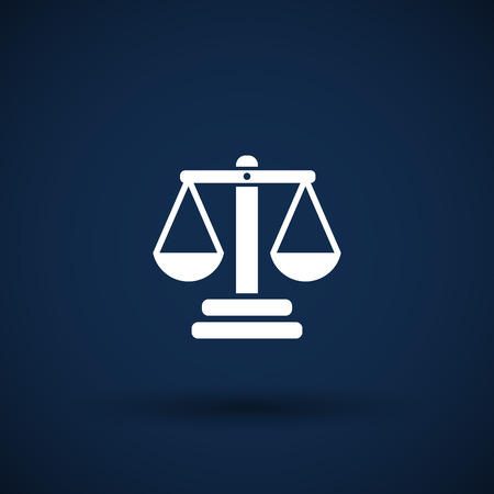 justice scales: justice vector icon vector symbol measurement balance Stock Photo