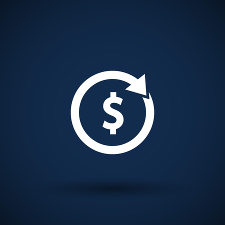 dissemination: Arrow and money Vector version also available Stock Photo