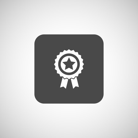 perfection: icon award medal achievement sign champion label.