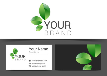 green card: business card creative design template Corporate Identity .