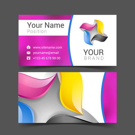 business card creative design template Corporate Identity logo.