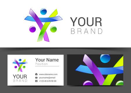 personalausweis: business card creative design template Corporate Identity logo.