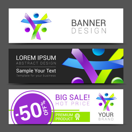 race relations: set of banners creative people discount tamplate.