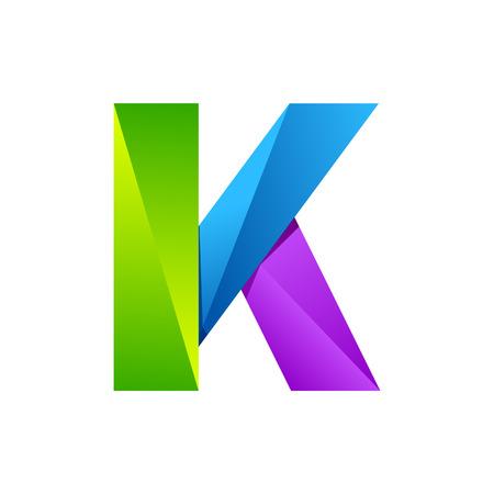 K Buchstaben eine Zeile bunte Logo. Vektor-Design-Vorlage Elemente ein Symbol für Ihre Anwendung oder Unternehmen Illustration