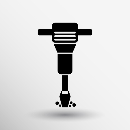 jackhammer: jackhammer Rounded squares button icon vector button logo symbol concept.