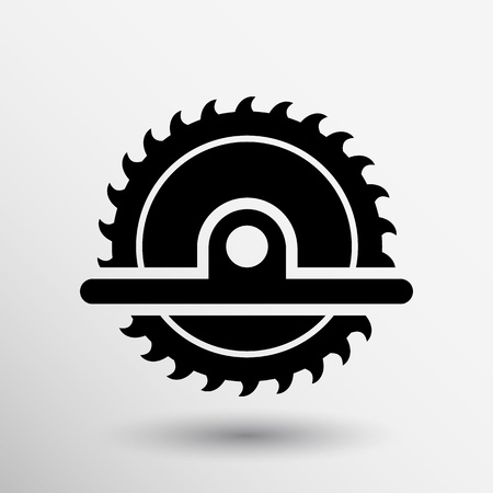 Kreissäge-Symbol Vektor-Button-Logo-Symbol Konzept.