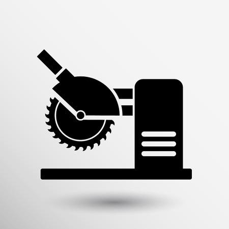 cutoff blade: Saw tool icon vector button logo symbol concept.
