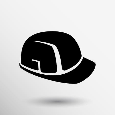 construction helmet icon vector button logo symbol concept.