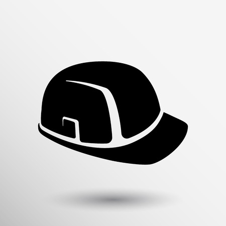 construction icon: construction helmet icon vector button logo symbol concept.