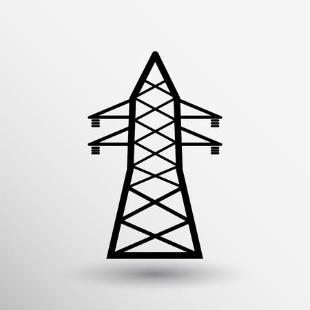 mains: high-voltage line icon vector button logo symbol concept.