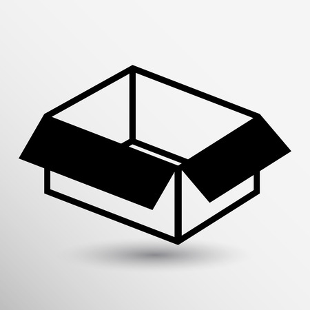 package icon: package icon vector button logo symbol concept.