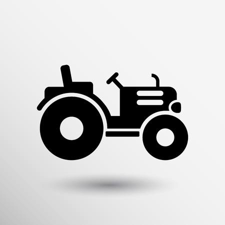 トラクターのアイコン ベクトル ボタン ロゴ シンボル概念。