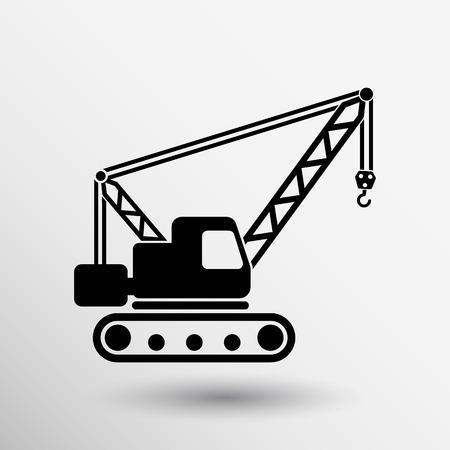 cranes: building crane icon vector button logo symbol concept.